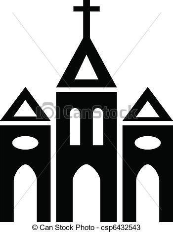 imagenes de iglesias blanco y negro vector van kerk black en witte silhouette van