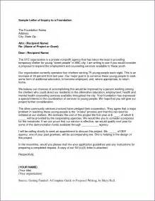 Cover Letter For Grant by Sle Grant Letter Proposalsleletter