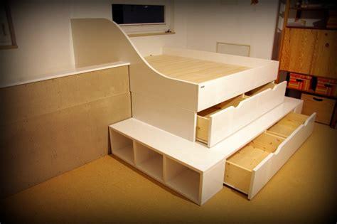 Doppel Hochbett Für Erwachsene hochbett selber bauen mit schrank