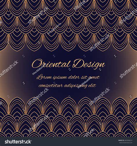 royal pattern frame luxury background vector oriental pattern frame stock