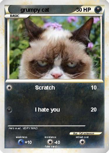 card grumpy cat pok 233 mon grumpy cat 861 861 scratch my card