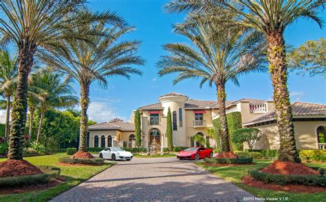 4 4 million mediterranean lakefront mansion in boca raton