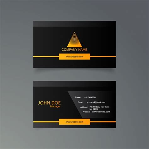yellow business card template free black and yellow business card template vector free