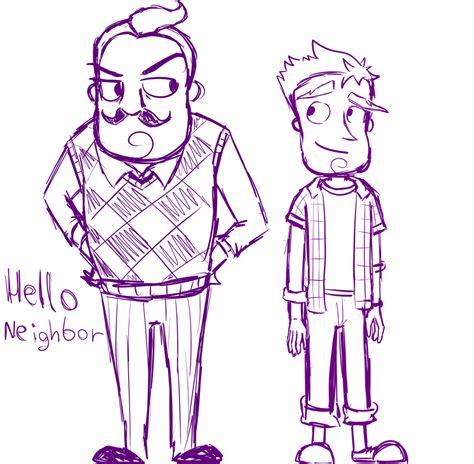 hello neighbor fan games hello neighbor by abrilk on deviantart indie game fan