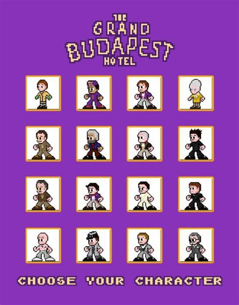 how to get to choose what characters to use on crossy roads the grand budapest hotel choose your character poster