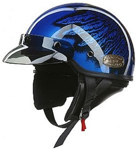 agv thunder half helmet blue eagle