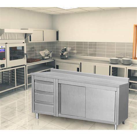 kitchen cabinet sliding drawers eq kitchen line 80 in x 28 in x 34 in stainless steel