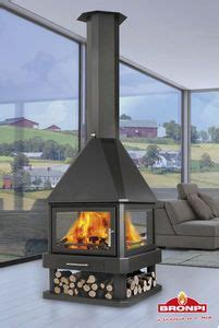 open middle  room wood stove circular dream home