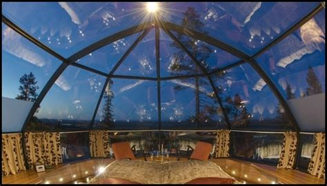 igloo northern lights marvel at the northern lights in one of these glass igloos