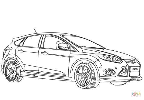 coloring pages of ford cars 2012 ford focus sport coloring page free printable