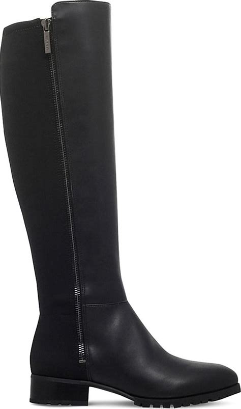 nine west legretto zip up knee high boots in black lyst