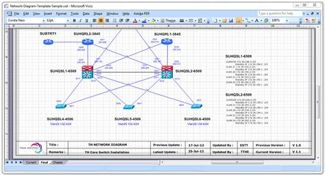 Visio Network Templates Network Diagram Templates Cisco Networking Center