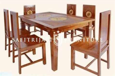 meja makan ukir bunga jepara safitri jati furniture