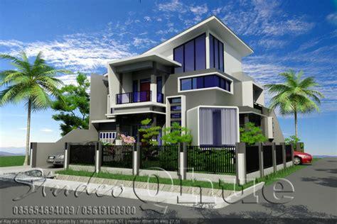 design minimalis hook rumah modern 2 lantai di lahan hook studeo qhue