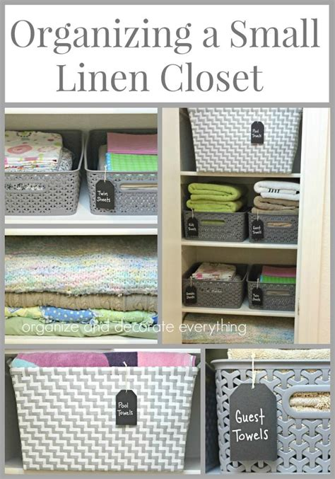organizing small closet best 20 small linen closets ideas on bathroom