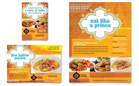 desain brosur kuliner contoh brosur restoran makanan penggugah selera