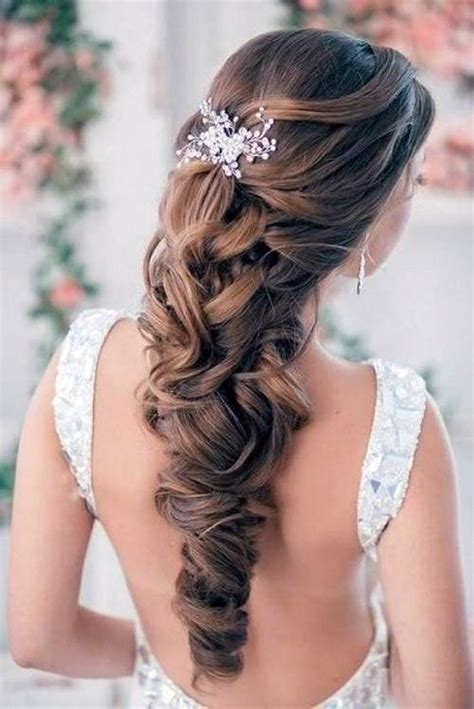 bridal hairstyles image gallery wedding hairstyles down curly for bride inofashionstyle com