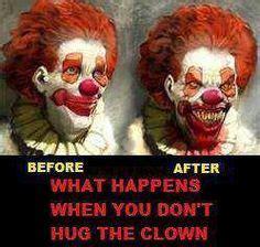 creepy hugs clowns my love yes i know i am odd on pinterest clowns
