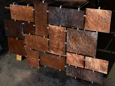 copper walls hand made custom hammered copper wall art by fabitecture