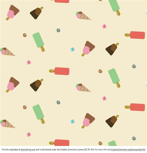 vector pattern free commercial use free icecream pattern vector