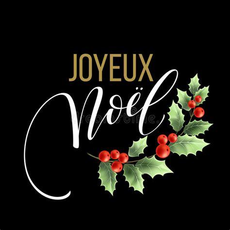 merry christmas card template    french language joyeux noel vector