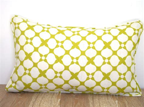 green lumbar pillow cover in 20x12 geometric sofa cushion