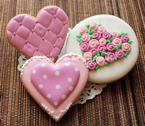 valentines day cookies s something sweet s day cookies pink
