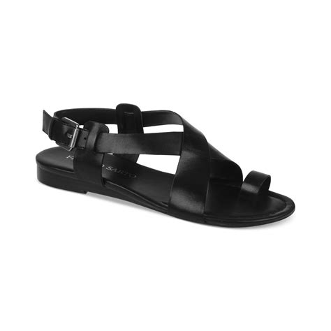 franco sarto black sandals franco sarto georgie flat sandals in black black leather