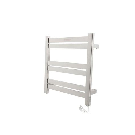 Towel Rack Warmer by Anzzi Starling 6 Bar Stainless Steel Wall Mounted Electric