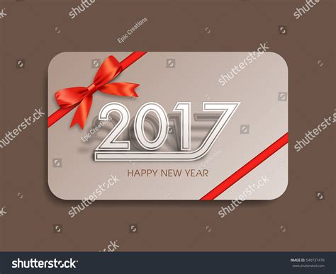 Gift Card Text - gift card happy new year 2017 stock vector 540737470 shutterstock