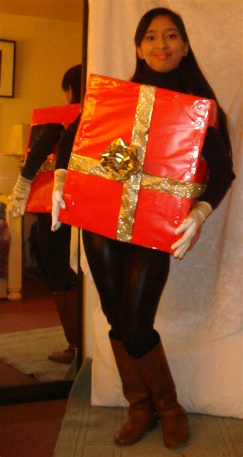 me in red christmas gift box costume 2 by magic kristina