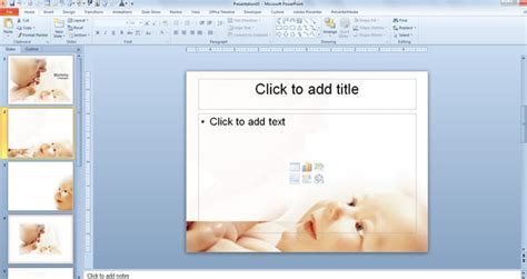 baby mommy powerpoint templates