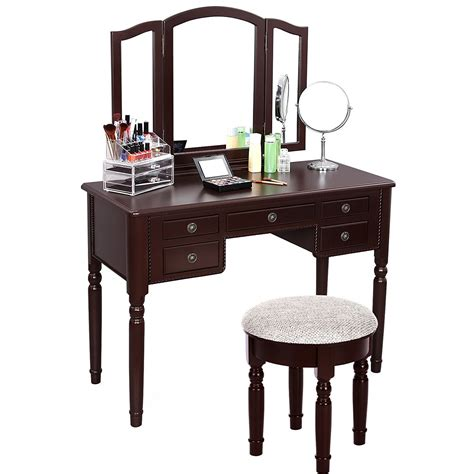 vanity table with mirror and bench vintage vanity table with mirror and bench home
