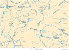 colorado rivers and streams map map of wyoming lakes streams and rivers