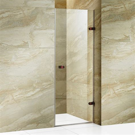 26 Shower Door Vigo Tempo 26 5 In X 70 625 In Frameless Pivot Shower Door With Hardware In Rubbed Bronze