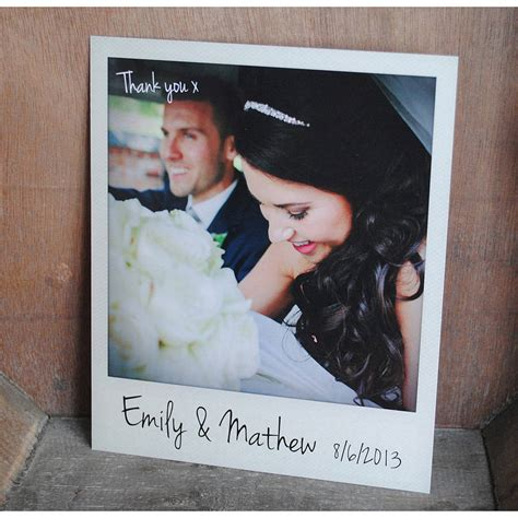 Wedding Thank You Gift Card - personalised polaroid wedding thank you cards by wedfest notonthehighstreet com