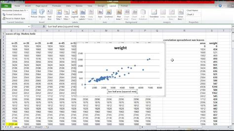 how to make a correlation scatter graph in excel youtube