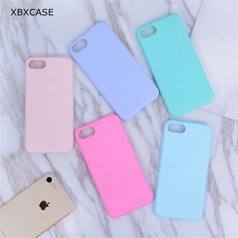 Iphone 7 Cafele Frosted Matte Soft Pink xbxcase color tpu rubber silicone for iphone 7 7plus matte frosted soft cover