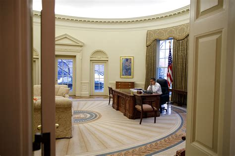 what floor is the oval office on file barack obama in the oval office view from the west