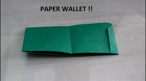 How To Make A Wallet With Paper - how to make a paper wallet