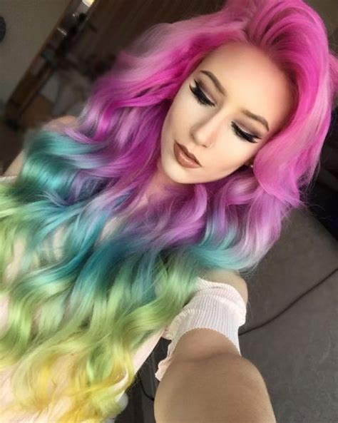 Colors Summer 2017 rainbow hair 30 crazy rainbow hair color inspirations