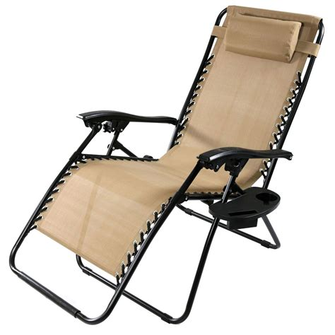 oversized  gravity lounge chair wpillow cup holder multiple options ebay