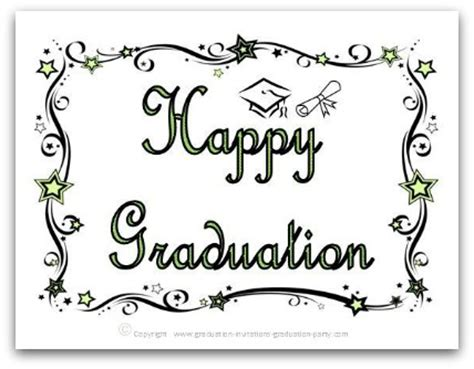 free graduation card templates free printable graduation cards