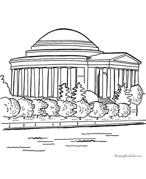 Jefferson Coloring Page Jefferson Memorial Coloring Pages Printable Coloring Pages by Jefferson Coloring Page