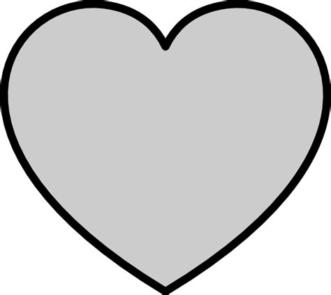 large heart shape clipart best large heart stencil clipart best