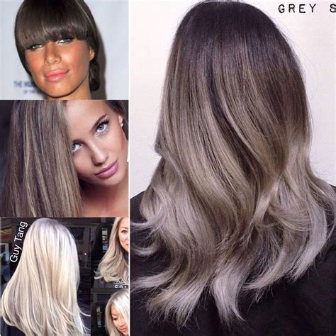 platinum and ash brown hair dark ash brown to platinum ombr 233 icy pearly ash
