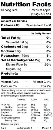 apple nutrition facts nutrition new york cider ny apple association