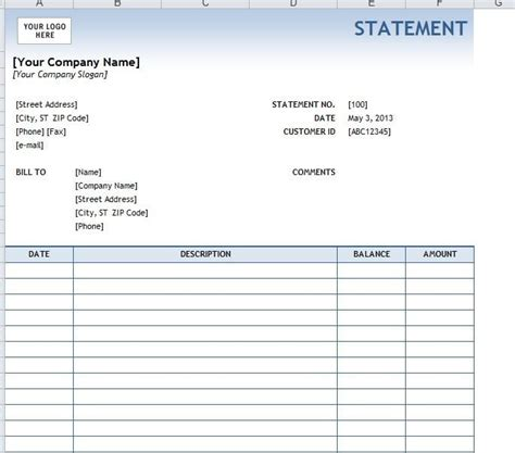 4 Legal Statement Templates Word Excel Sheet Pdf Free Statement Of Account Template