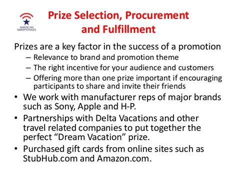 American Sweepstakes And Promotions - american sweepstakes and promotions company capabilities and best pra