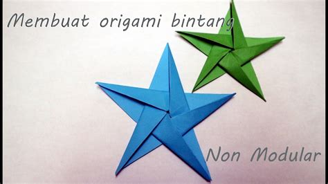 Video Tutorial Origami Bintang | tutorial origami bintang step by step non modular youtube